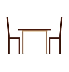 Table chairs house icon vector