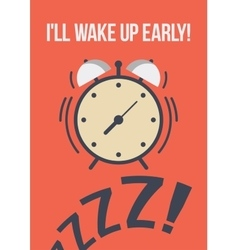 Template poster quote - I ll wake up early vector