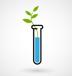 Test tube with sprout vector image