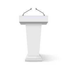 tribune podium rostrum speech stand conference vector image