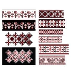 Ukrainian Ornaments Set vector image