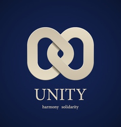 unity symbol design template vector image