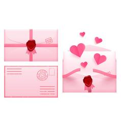 valentine day envelope love romantic paper mail vector image