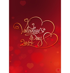 Valentines card day 2014 red vector