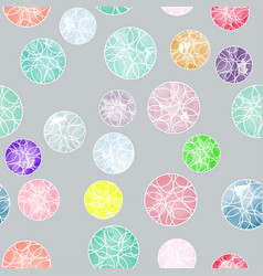 Watercolor circles with ornaments pattern vector