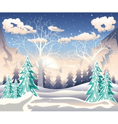 Winter Forest Landscape2 vector