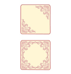Button banner business card heart vector image vector image