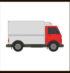 refrigerator truck flat vector image vector image