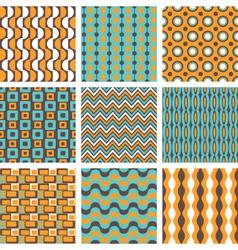 retro patterns set vector image vector image