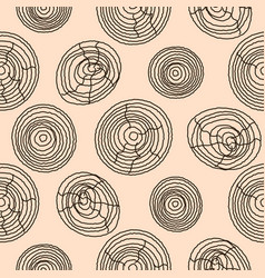 seamless cork wood pattern wooden texture vector image