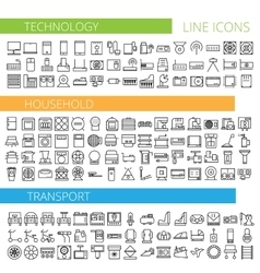 thin line icons for vector image