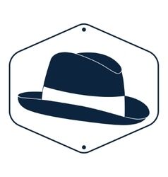 Vintage man s hat label vector image vector image