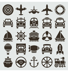 Vintage retro icons vector image vector image