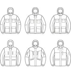 Work jacket vector image vector image