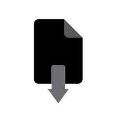 file download icon vector image