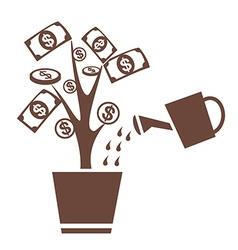 tree money invest symbol vector image