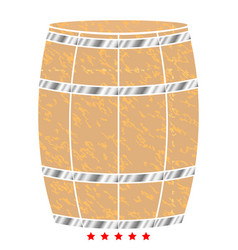 wine or beer barrels icon flat style vector image