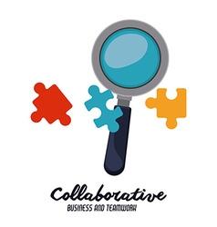 Collaborative design vector image