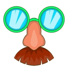Disguise mask icon cartoon style vector image
