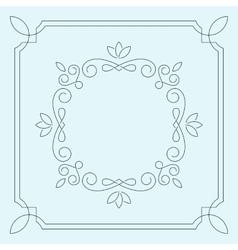 Floral frame monogram vector image
