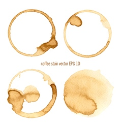 set coffee abstract watercolor vector image