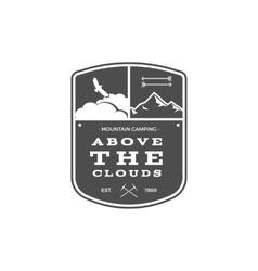 Camping Adventures Label Vintage Mountain winter vector image vector image