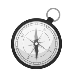 Compass icon in monochrome style isolated on white vector image vector image