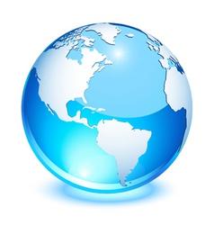 crystal earth vector image