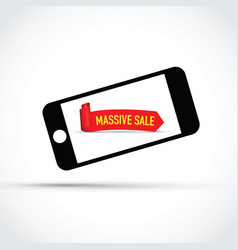 mobile phone massive sale background vector image vector image