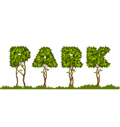 Park letters leaves vector