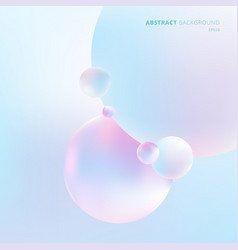 Abstract 3d liquid fluid circles pastel color vector
