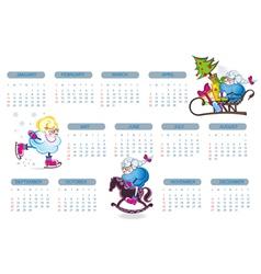 Abstract calendar 2015 with sheep vector