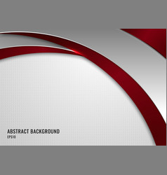 Abstract template red and gray curve on square vector