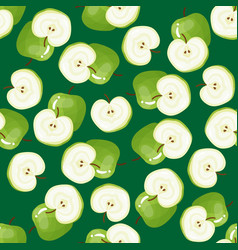 Apple pattern fruit repeated seamless vector