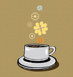 Aroma coffee banner vector
