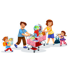 Back to school shopping poster vector