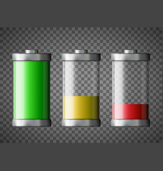 battery charge status isolated on a transparent vector image
