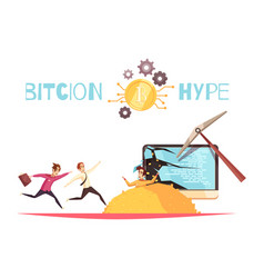 Bitcoin hype design concept vector