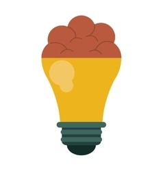 brain bulb idea innovation creative design vector image