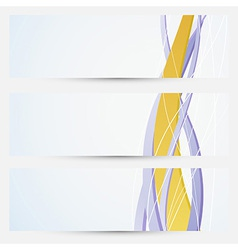 Bright business cards collection - golden line vector image