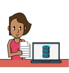 business worker cartoon vector image