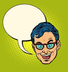 businessman head emoji vector image