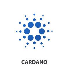 cardano crypto currency coin icon vector image