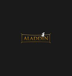 Carpet aladdin elegance creative business logo vector