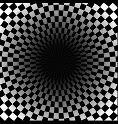 Circular - radial checkered background with vector