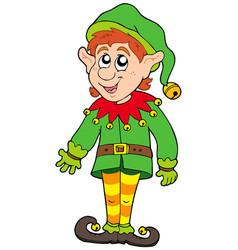 cute christmas elf vector image