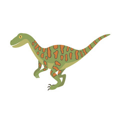 deinonychus dinosaur color dino design vector image