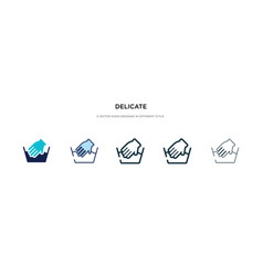 Delicate icon in different style two colored and vector