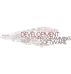 Development word cloud concept vector
