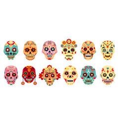 dia de los muertos skull mexican day dead vector image